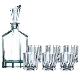 Набор для виски из 6-ти хрустальных стаканов и штофа Aspen Nachtmann \ 90025