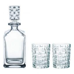 Набор для виски из 2-х хрустальных стаканов и штофа Bossa Nova Nachtmann \ 101095