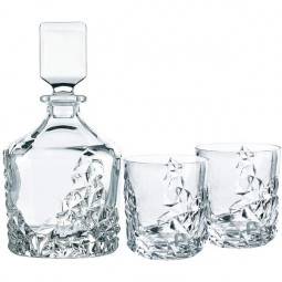 Набор для виски из 2-х хрустальных стаканов и штофа Sculpture Nachtmann \ 91900