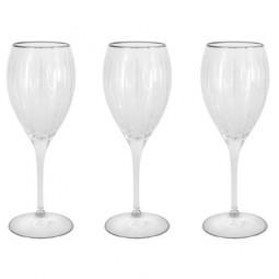 Набор хрустальных бокалов для белого вина 6 пр. серебро Пиза Same \ SM2101_1_SAL