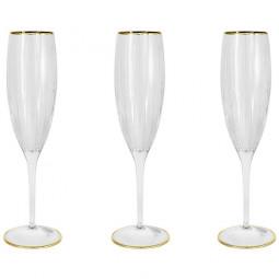 Набор хрустальных бокалов для шампанского 6 пр. золото  Пиза Same \ SM2103_GAL