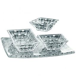 Набор из хрустальных тарелки и салатников 4 пр. Bossa Nova Nachtmann \ 97633
