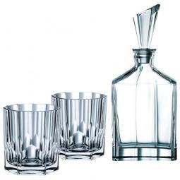 Набор для виски из 2-х хрустальных стаканов и штофа Aspen Nachtmann \ 90024