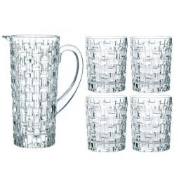 Набор для напитков из 4 хрустальных стаканов и кувшина Bossa Nova Nachtmann \ 98759