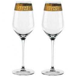 Набор хрустальных бокалов 2 пр. 0.5 л прозрачный/золото White Wine XL Muse Nachtmann \ 98059