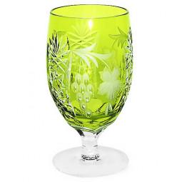 Хрустальный фужер 0.45 л светло-зеленый Grape Ajka Crystal \ 1/reseda/64573/51380/48359