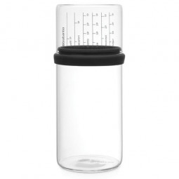 Банка с мерным стаканом 1 л стекло прозрачный/черный Brabantia \ 290282