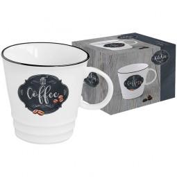 Кружка Кофе 0.35 л белый/декор Кухня в стиле Ретро Nuova R2S \ EL-R1603_KIBC