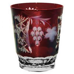 Хрустальный стакан для воды 0.39 л бордовый Grape Ajka Crystal \ 1/darkruby/64580/51380/48359