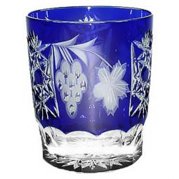 Хрустальный стакан для воды 0.39 л синий Grape Ajka Crystal \ 1/cobaltblue/64580/51380/48359