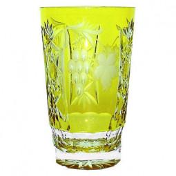 Хрустальный стакан для коктейля 0.39 л янтарный Grape Ajka Crystal \ 1/amber/64579/51380/48359