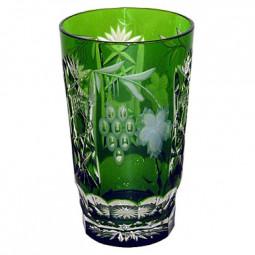 Хрустальный стакан для коктейля 0.39 л темно-зеленый Grape Ajka Crystal \ 1/emerald/64579/51380/48359