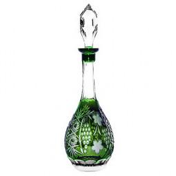 Хрустальный графин 0.75 л темно-зеленый Grape Ajka Crystal \ emerald/64569/51380/48359