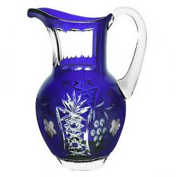 Хрустальный кувшин 1.2 л синий Grape Ajka Crystal \ cobaltblue/64571/51380/48359