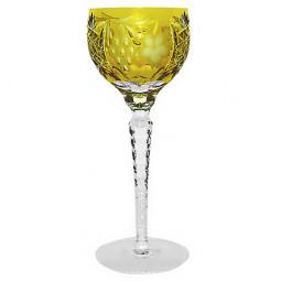 Хрустальный фужер для красного вина 0.23 л янтарный Grape Ajka Crystal \ 1/amber/64572/51380/48359
