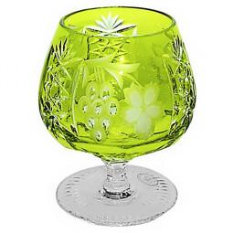 Хрустальный фужер для коньяка 0.3 л светло-зеленый Grape Ajka Crystal \ 1/reseda/64574/51380/48359