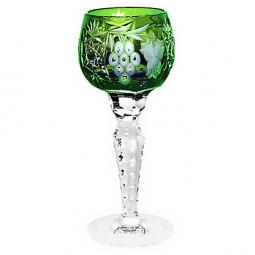 Хрустальная рюмка для ликера 0.06 л темно-зеленый Grape Ajka Crystal \ 1/emerald/64575/51380/48359