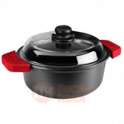 Кастрюля со стеклянной крышкой Risoli Soft Safety Cooking 20см \ 01097GF/20TP