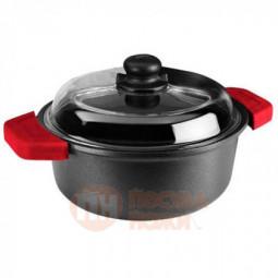 Кастрюля со стеклянной крышкой Risoli Soft Safety Cooking 24см \ 01097GF/24TP