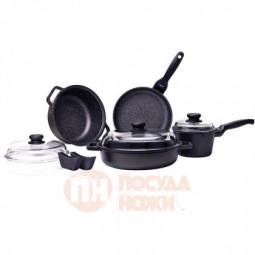 Набор посуды Risoli Granit 9пр в подарочной упаковке \ 03SET9PZ0HS0
