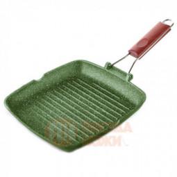 Сковорода-гриль квадратная Dr. Green Light 26 х 26 см алюминий зеленый Risoli \ 0092DR/26GS0