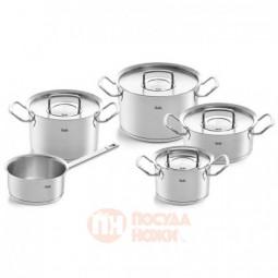 Набор посуды из нержавеющей стали из 4-х кастрюль с крышками и ковша Fissler \ 8411205