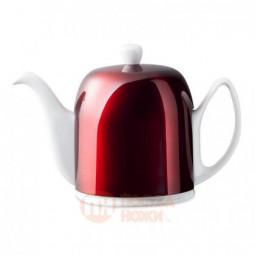 Фарфоровый заварочный чайник с колпаком из нержавеющей стали 1 л Guy Degrenne \ 238934