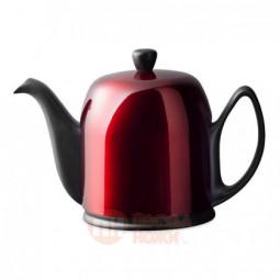 Фарфоровый заварочный чайник с колпаком из нержавеющей стали 1 л Guy Degrenne \ 238935