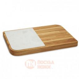 Деревянная разделочная доска для сыра с вставкой из мрамора 50 х 34 см натуральное Legnoart \ 002.040701.037