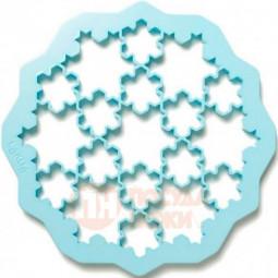 Силиконовая форма для печенья Снежинки Lekue \ 0200170Z11M017