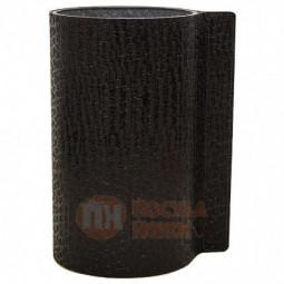 Стеклянная ваза для цветов обшитая кожей LIND DNA \ 9813