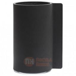 Стеклянная ваза для цветов обшитая кожей LIND DNA \ 983039