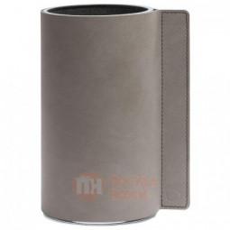 Стеклянная ваза для цветов обшитая кожей LIND DNA \ 983040