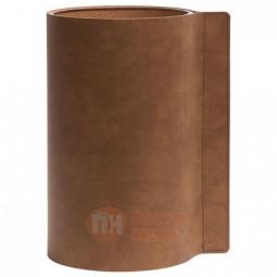 Стеклянная ваза для цветов обшитая кожей LIND DNA \ 983048