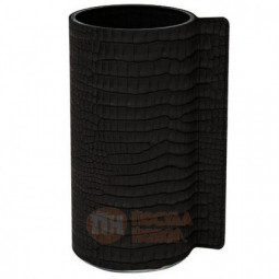 Стеклянная ваза для цветов обшитая кожей LIND DNA \ 98813