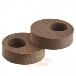 Набор из 2-х деревянных круглых подсвечников для чайных свечей 9 см LIND DNA \ 98408
