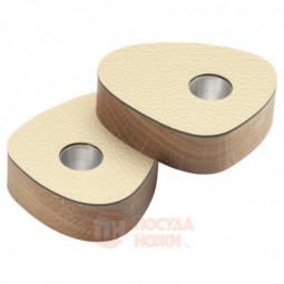Набор из 2-х деревянных подсвечников для высоких свечей LIND DNA \ 990057