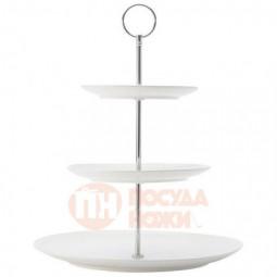 Фарфоровая трехъярусная ваза для фруктов 27 см Maxwell&Williams \ MW688-DV0027