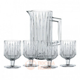 Набор для напитков Jules из 4 хрустальных бокалов и кувшина Nachtmann \ 102708
