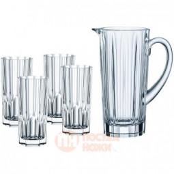 Набор для напитков Aspen из 4-х хрустальных стаканов и кувшина Nachtmann \ 102999