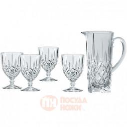 Набор для напитков Noblesse из 4-х хрустальных фужеров и кувшина Nachtmann \ 102387