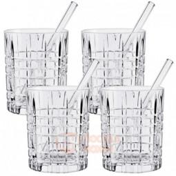 Набор Tastes Good из 4-х хрустальных стаканов для виски и трубочек 345 мл Nachtmann \ 103145