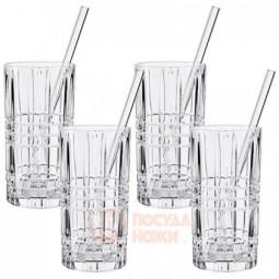 Набор Tastes Good из 4-х высоких хрустальных стаканов и трубочек 445 мл Nachtmann \ 103144