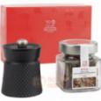 Набор из чугунной мельницы для перца и баночки с перцем Sichuan 10 см Bali Peugeot \ 35808
