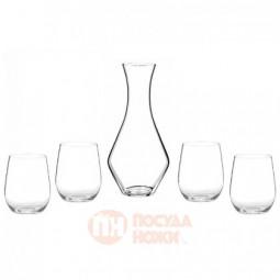 Набор для белого вина из 4-х хрустальных бокалов и декантера Chardonnay/Viognier Riedel \ 5414/54