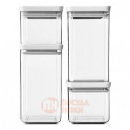 Набор из 4-х пластиковых емкостей для продуктов Tasty+ Brabantia \ 122569