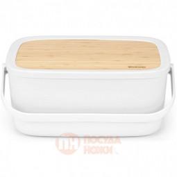 Пластиковая хлебница Nic с крышкой 39.5 см Brabantia \ 128288