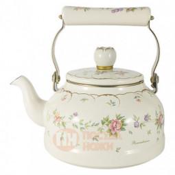 Стальной эмалированный чайник 2.3 л Ejiry \ EJ-REM-2.3K