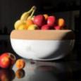 Керамическая чаша для фруктов с крышкой из натуральной пробки 35 см Emile Henry \ 348765