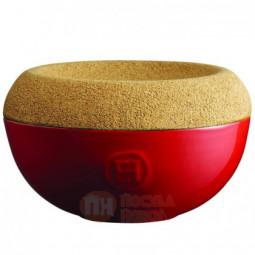 Керамическая емкость для хранения соли с крышкой из натуральной пробки 0.5 л Emile Henry \ 348761